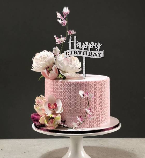 SUDARSHAN STICKER Happy Birthday Glitter Cake Topper to Celebrate a Special Day Party Cake Decorations_SSCT21 Cake Topper