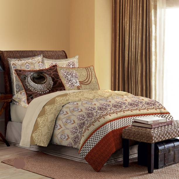 Bombay Dyeing 210 TC Cotton Double King Printed Bedsheet