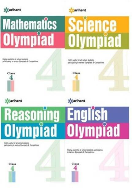 Olympiad Books Practice Sets Reasoning,Mathematics,Science,English Class 4th