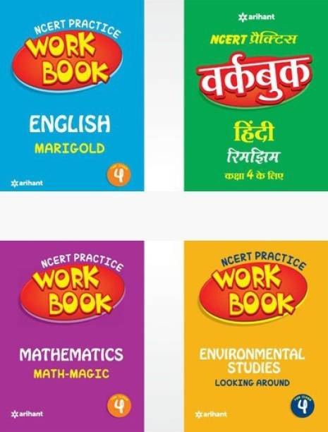 Ncert Practice Workbook English,Mathematics,Environmental Studies,Rimjhim Class 4th