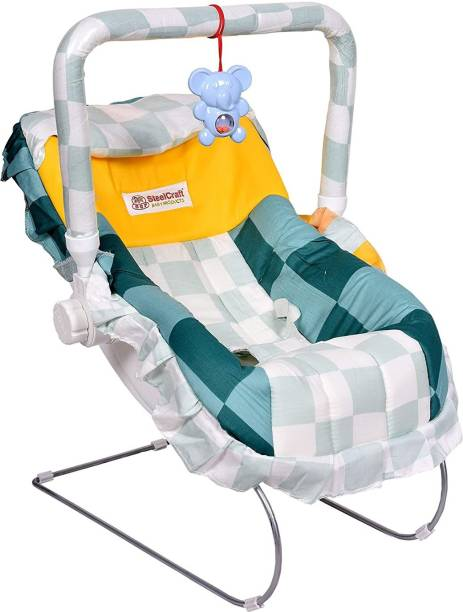 baby tone B.T 12 IN 1 Premium Baby feeding swing rocker carry cot cum bouncer with mosquito net Rocker and Bouncer