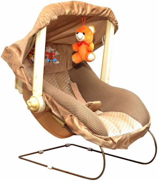 baby tone B.T 12 IN 1 Premium Musical Baby feeding swing rocker carry cot cum bouncer with mosquito net and storage box Rocker and Bouncer