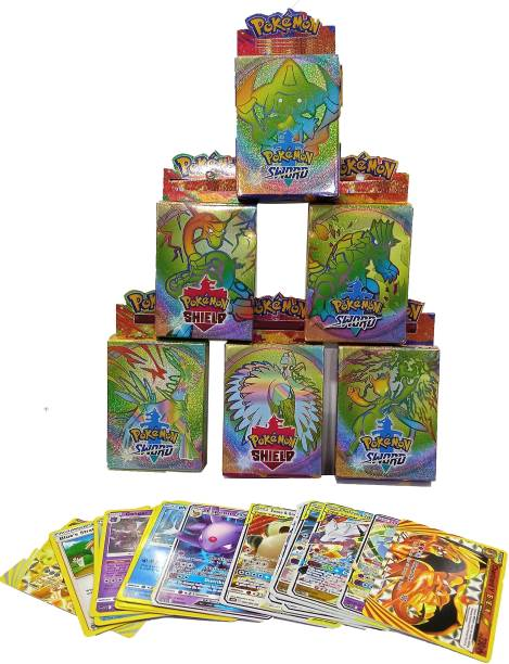 Bestie Toys Pokemon Shield & Sword Latest Edition EX ,GX TAG TEAM And Basics Cards (Pack of 6)