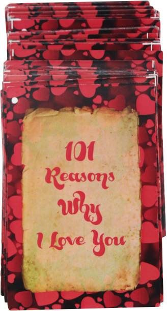 Anishop 101 Reasons Why I love You Cards special for Valentines day , Anniversary , Birthday, Love 101 CARDS Greeting Card