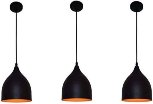 LazyHomez Decorative Down Wine Glass Shape Hanging Pendant Ceiling Light (Black, Set of 3) Pendants Ceiling Lamp