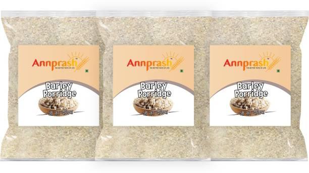 ANNPRASH Premium Quality Barley Porridge / Jau Daliya - 1.5kg (500gmx3)