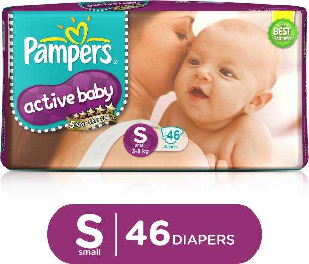 Pampers Active Baby Taped Diapers 5 Star Skin Protection - S