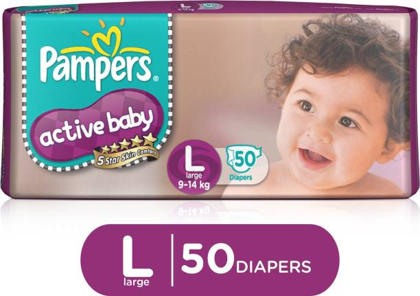 Pampers Active Baby Taped Diapers 5 Star Skin Protection - L