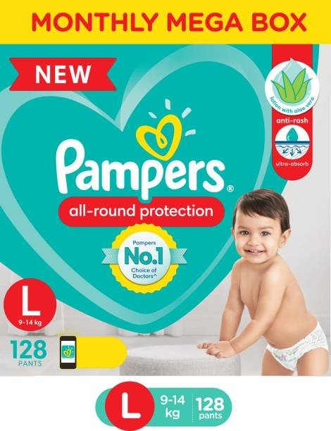 Pampers Diaper Pants Monthly Box Pack Lotion with Aloe Vera - L