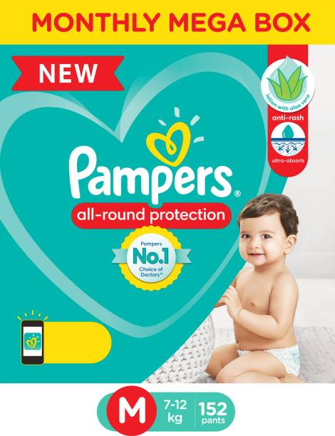 Pampers Diaper Pants Monthly Box Pack Lotion with Aloe Vera - M