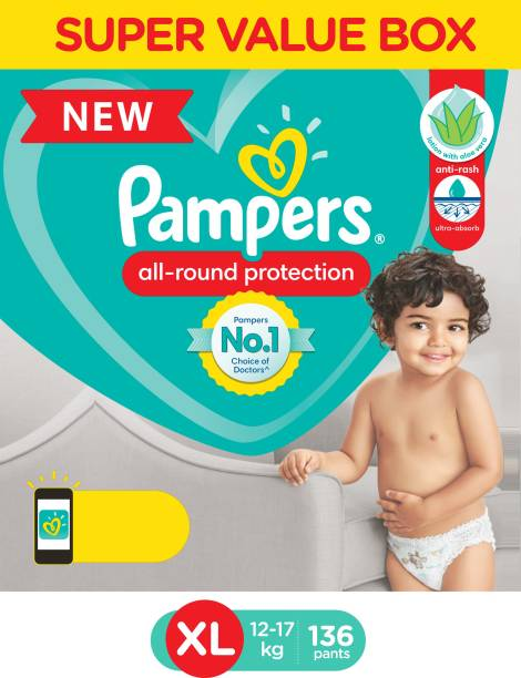 Pampers Diaper Pants Super Value Box Pack with Aloe Vera Lotion - XL