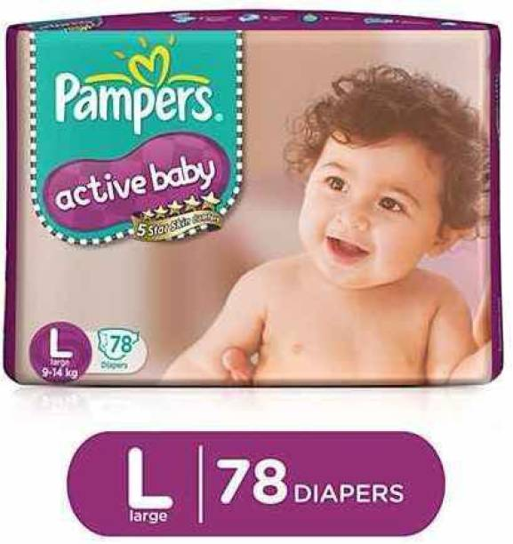 Pampers Active Baby Diapers Taped Large Size