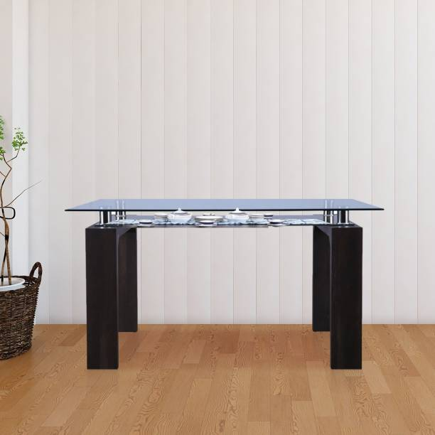 Hometown Engineered Wood 6 Seater Dining Table