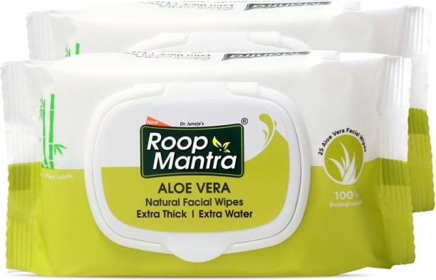 Roop Mantra Aloevera Natural Facial Cleansing Wipes (25 Wipes)