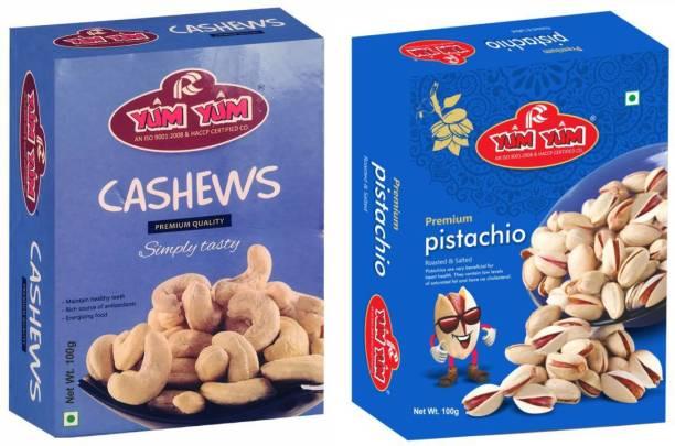 YUM YUM Premium Dry Fruits Combo Pack 200g- Cashews, Pistachios