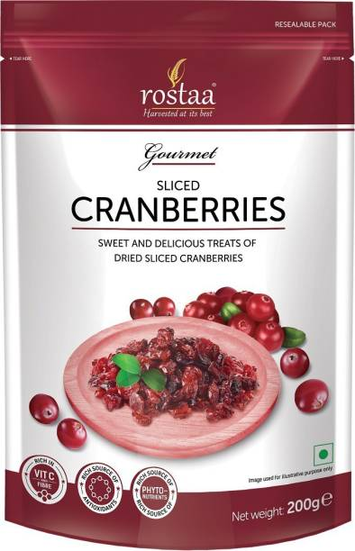 rostaa Dried Sliced Cranberries Cranberries