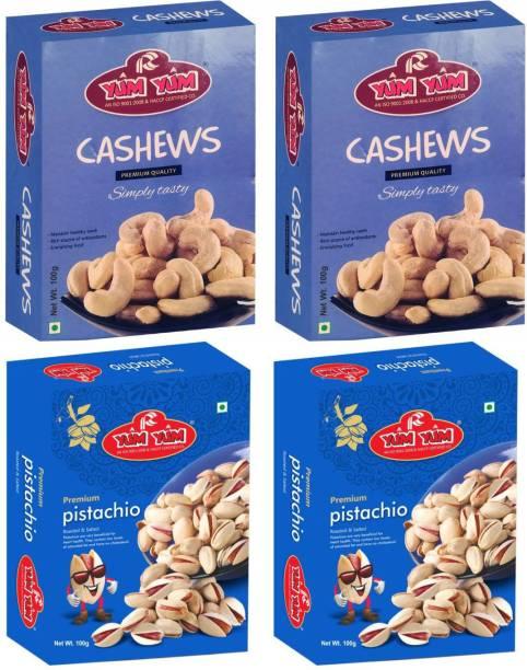 YUM YUM Premium Dry Fruits Combo Pack 400g- Cashews, Pistachios