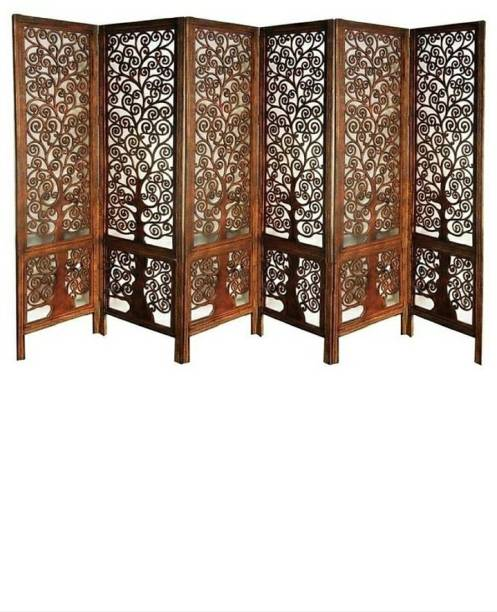 12 STARS Wooden room divider beautiful panals set of 6 Solid Wood Decorative Screen Partition
