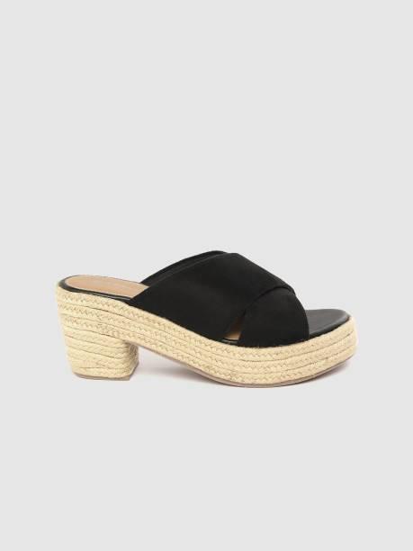 MAST & HARBOUR Women Black, Beige Heels