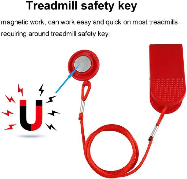 Leosportz Imported Treadmill Safety Key, Universal Treadmill Magnet Security Lock PP-112