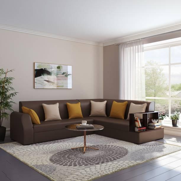 Bharat Lifestyle Aston Leatherette 6 Seater  Sofa