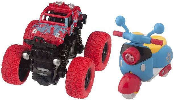 K A Enterprises Combo Set - Monster Truck, Scooter – Toys