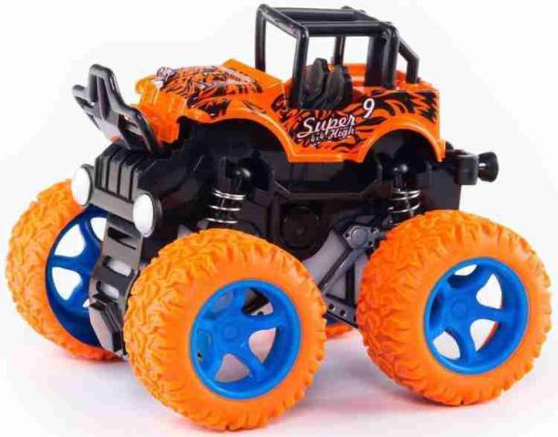 maadi toys 4WD monster Truck car SHOCK-PROOF and durable push and Go toy Truck Friction Powered Safety Truck Toys For Kids Drive vehicle For Toddlers Children Best Gifts For Boys Girls Birthday