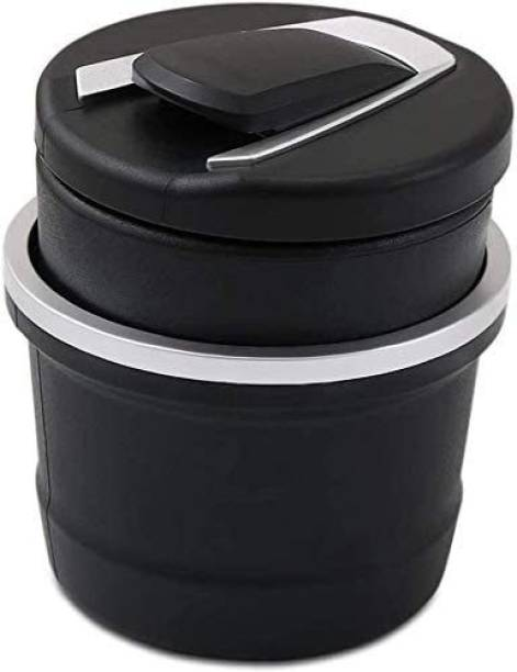 carempire Car Ashtray Black, Silver Plastic, Stainless Steel Ashtray