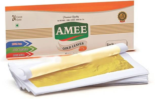 Amee Gold Leaves / Varkh / Foil / Leaf , Size No.: 57-4, 40 Leaves Glitters