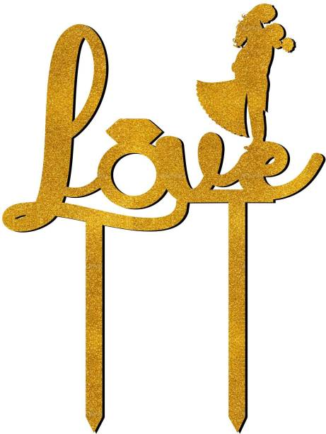 Creatick Studio Love Cake Topper to Celebrate a Special Day Party Cake Decorations_GGCT20 Cake Topper