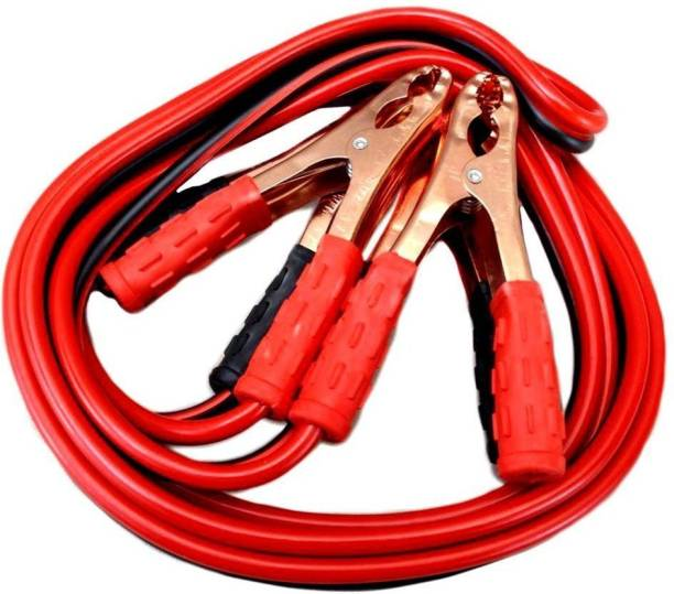 RHONNIUM IX - JK - 54 - Car 500 AMP Copper Wire Booster Cable for All Cars 6.3 ft Battery Jumper Cable