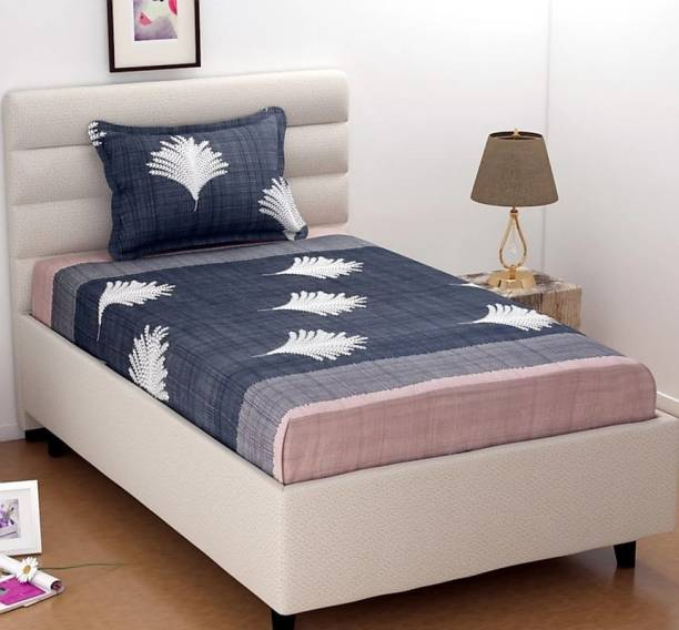 HSR Collection 180 TC Cotton Single Printed Bedsheet