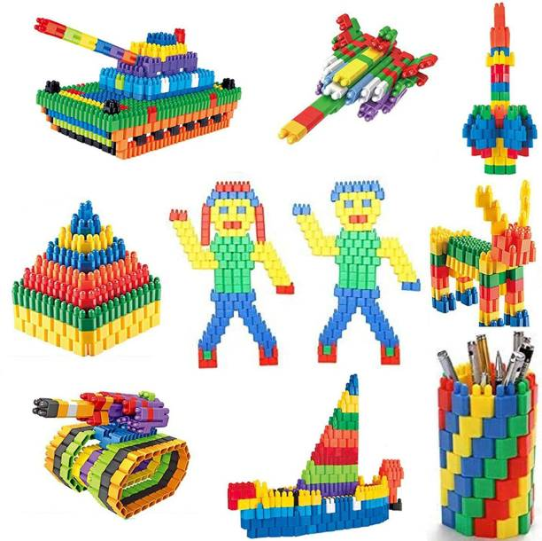 TechHark 200+ PCS Creative Bullets Shaped Stem Building Blocks Toy Set For Kids (Made In India)