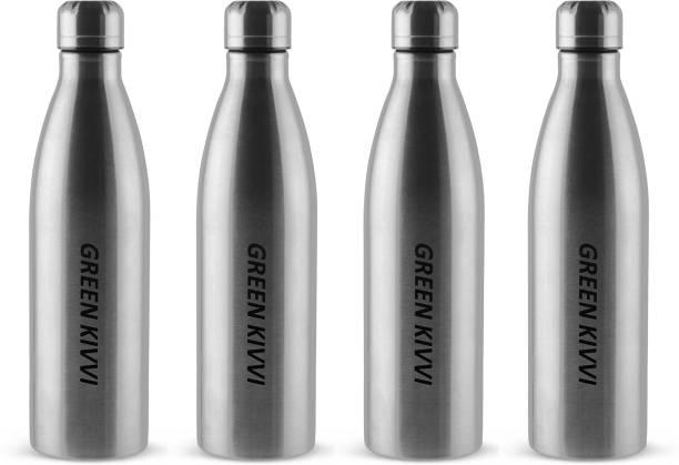 green kivvi Stainless Steel Water Bottle For Cold Water, Fridge and Sport Bottle (Pack Of 4) 1000 ml Bottle