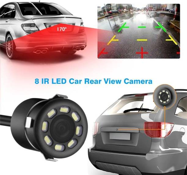 Auto Snap LED Night Vision Waterproof Car Rear View Reverse Parking HD Camera for (All Cars) Black LED