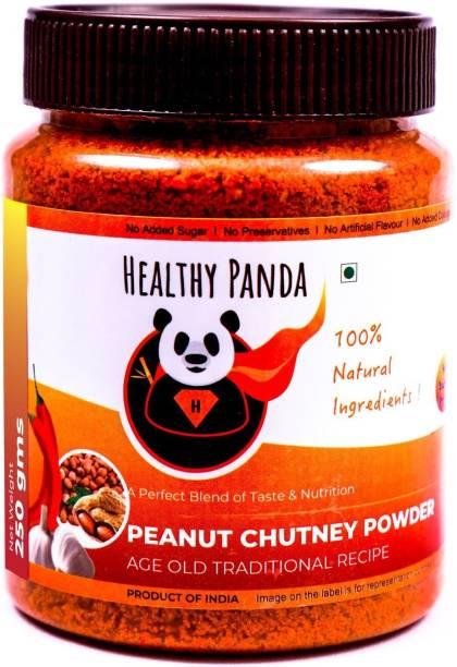 HEALTHY PANDA Peanut Garlic Chutney Powder or Groundnut Chutni Powder also famously known as Shenga Chatni in Uttar Karnataka (100% Natural & Healthy) - 250 Gram Chutney Powder