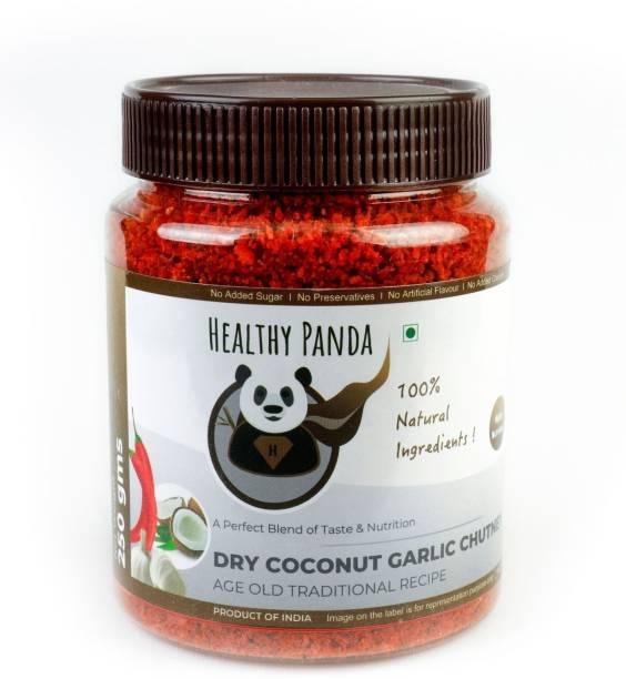HEALTHY PANDA Dry Coconut Garlic Chutney also known as Khobra Lasun Chatni, Kobbari Chatani, Dry Nariyal Chutni (100% Natural & Healthy) - 250 Gram Chutney Powder