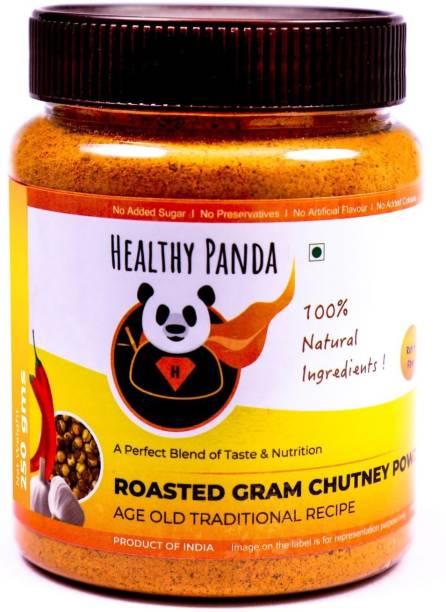 HEALTHY PANDA Roasted Bengal Gram Dal Chutney Powder also known as Chana Dal Chatni, Fried Gram Dal Podi, Puthani Chatani, Putnala Podi, Pappula Podi, Pottukadalai Podi (100% Natural & Healthy) - 250 Gram Chutney Powder