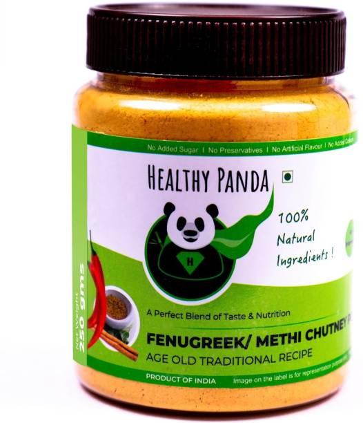 HEALTHY PANDA Fenugreek Chutney Powder also known as Methi Chutney, Metkut Chatni, Molaga Podi, Idly Dosa Chatani, Podi Chutni (100% Natural & Healthy) - 250 Gram Chutney Powder