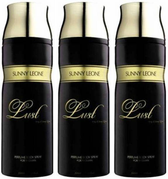 Lust by Sunny Leone Three Lust BLACK Deodorant Spray  -  For Women