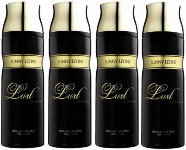 Lust by Sunny Leone Four Lust BLACK Deodorant Spray  -  For Women
