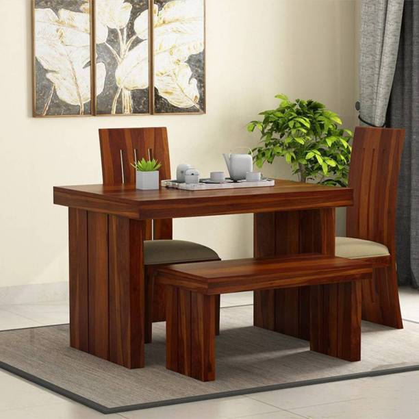 Ananya furniture Solid Wood 3 Seater Dining Set