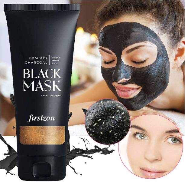 FIRSTZON Activated Charcoal Peel off Mask | Skin Detoxify Peel off Mask| Deep Cleansing Peel off Mask| Dead Cells removal Peel off Mask| Black heads removal Peel off Mask| Oil Control Peel off Mask|
