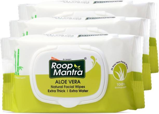 Roop Mantra Aloevera Natural Facial Cleansing Wipes