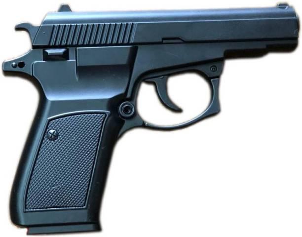 NSV Z-Black Heavy Metal CZ83 Pistol Gun Lighter With Windproof Flame Nickel, Cast Iron, Plastic Gas Lighter