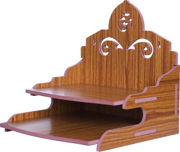 STASTORE Wooden Singhasan Temple for God, Laddu Gopal Sinhasan for Pooja Mandir, Singhasan for Diwali, Durga Pooja, Navratri, Ganesh Chaturthi Engineered Wood Home Temple