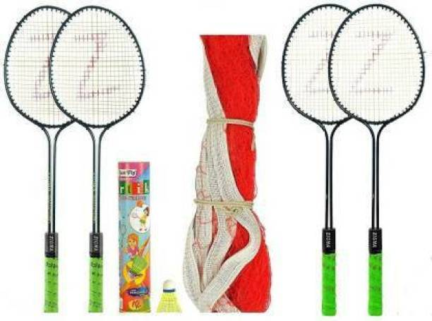 LARK Steel Badminton Set (White) Badminton Kit Badminton Kit