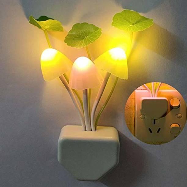 Mtronics Sensor Led Mushroom Night Light Mushroom Lamp Plug-in LED Mushroom Bed Lamp Night Lamp