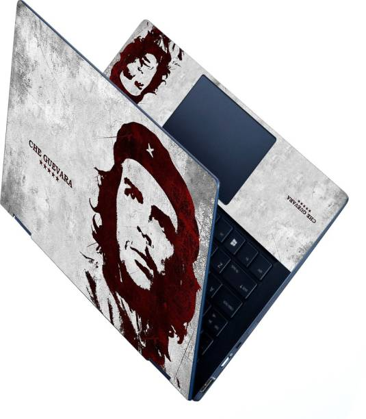 dzazner HD Printed Full Panel Laptop Skin Sticker Vinyl Fits Size Upto 15 inches No Residue, Bubble Free - Che Guevara Vinyl Laptop Decal 15.6