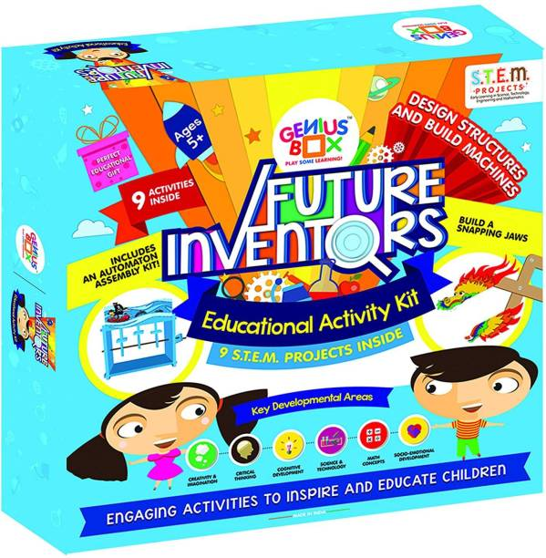 Genius Box Learning 5 in 1 Activity S.T.E.M Learning Kit for Children Age 5+ : Future Inventors Activity Kit